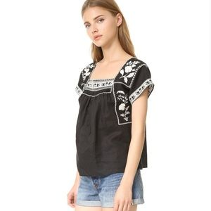 Madewell Boho Embroidered Wilfred Top
